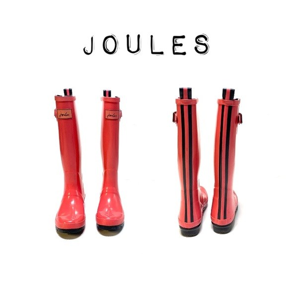 Joules Shoes - Joules Glossy Pink Wellies Rain & Snow boots